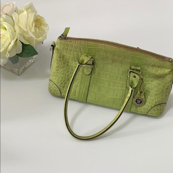 Dooney & Bourke Handbags - Dooney and Bourke Green Croc Embossed Purse